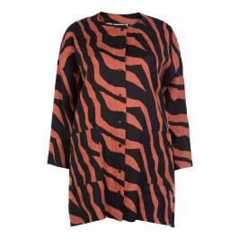YOEK TIGER PRINT LINEN SHIRT - Plus Size Collection