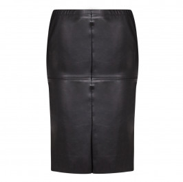 YOEK ECO LEATHER PANEL PENCIL SKIRT  - Plus Size Collection