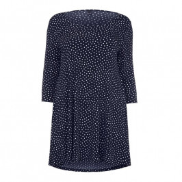YOEK navy polka dot jersey Tunic - Plus Size Collection