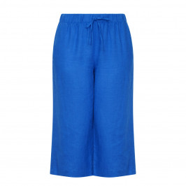 YOEK LINEN  TROUSER COBALT - Plus Size Collection