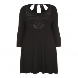 YOEK embellished Tunic with cutout back - Plus Size Collection
