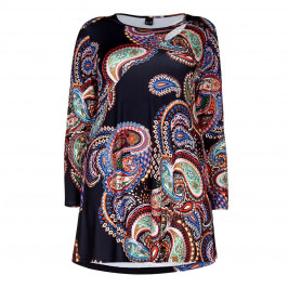 YOEK PAISLEY PRINT JERSEY TUNIC - Plus Size Collection