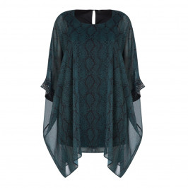 YOEK SNAKE PRINT EMBELLISHED TUNIC - Plus Size Collection