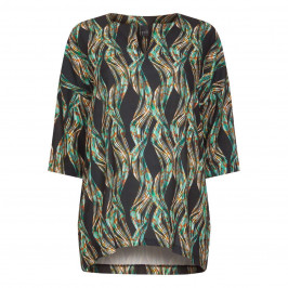 YOEK PRINTED TUNIC  - Plus Size Collection
