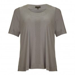 YOEK embellished grey TUNIC - Plus Size Collection