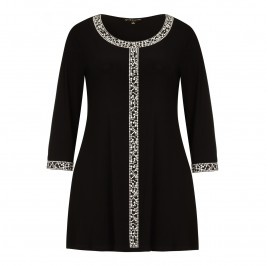 YOEK embellished black TUNIC - Plus Size Collection