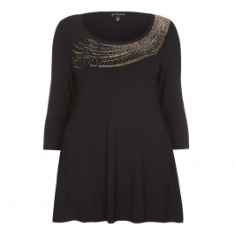 YOEK Flare fit embellished Tunic - Plus Size Collection