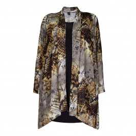 Yoek Python Print Chiffon Wrap With Camisole - Plus Size Collection