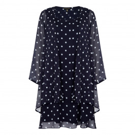 YOEK POLKA DOT CHIFFON TWINSET - Plus Size Collection