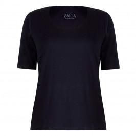 ZAIDA ROUND NECK T-SHIRT BLACK - Plus Size Collection