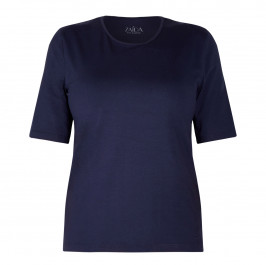 ZAIDA STRETCH JERSEY T-SHIRT NAVY - Plus Size Collection