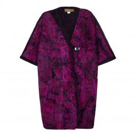 ZUZA-BART purple single button oversize CAPE coat - Plus Size Collection