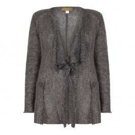 ZUZA-BART GREY SOFT MOHAIR CARDIGAN - Plus Size Collection