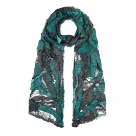 ZUZA-BART aqua felted wool SCARF - Plus Size Collection