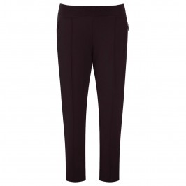 Aprico aubergine front seam leggings - Plus Size Collection