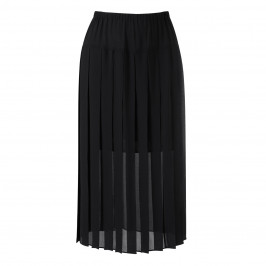 Persona black pleated chiffon maxi skirt - Plus Size Collection
