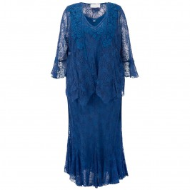ANN BALON BLUE LACE 3 PIECE OUTFIT - Plus Size Collection