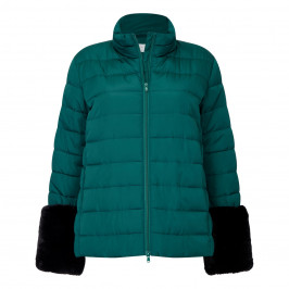 GAIA PUFFA JACKET WITH REMOVABLE FAUX FUR CUFF - Plus Size Collection