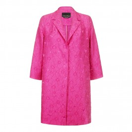 MARINA RINALDI fuchsia brocade formal COAT - Plus Size Collection