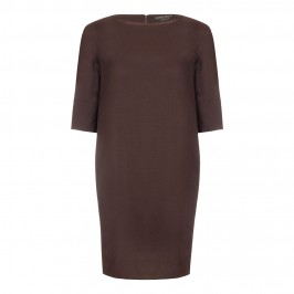 Marina Rinaldi aubergine shift 3/4 sleeve DRESS - Plus Size Collection