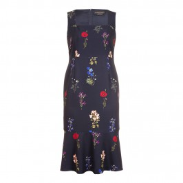 Marina Rinaldi floral DRESS with optional sleeves - Plus Size Collection