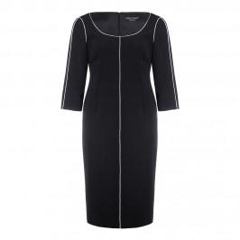 Marina Rinaldi black sheath DRESS with white piping - Plus Size Collection