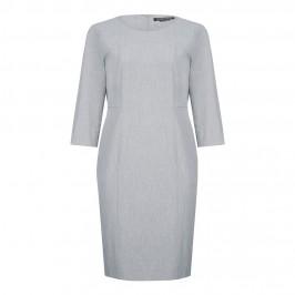 MARINA RINALDI grey round neck panelled DRESS - Plus Size Collection