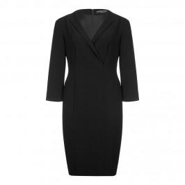 MARINA RINALDI crossover V neck black DRESS - Plus Size Collection