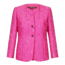 Marina Rinaldi fuchsia brocade JACKET - Plus Size Collection