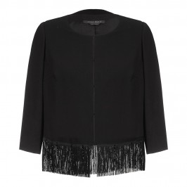 Marina Rinaldi fringe detail JACKET - Plus Size Collection