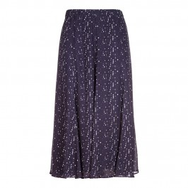 Marina Rinaldi navy print maxi SKIRT - Plus Size Collection
