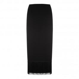 MARINA RINALDI BLACK FRINGE MAXI SKIRT - Plus Size Collection