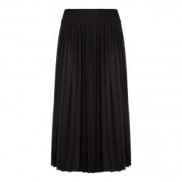 MARINA RINALDI pleated black jersey maxi SKIRT - Plus Size Collection