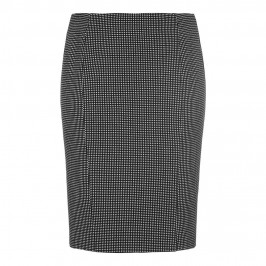 Marina Rinaldi monochrome micro-check jersey pencil SKIRT - Plus Size Collection