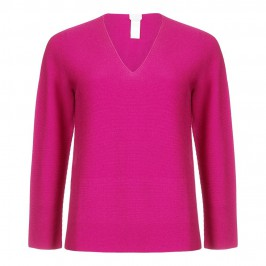 MARINA RINALDI pure wool magenta SWEATER - Plus Size Collection