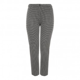 Marina Rinaldi monochrome micro-check jersey TROUSERS - Plus Size Collection