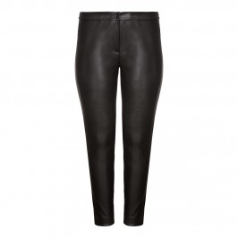 Marina Rinaldi black leather look TROUSERS - Plus Size Collection