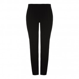 MARINA RINALDI tailored pull-on black TROUSERS with elasticated waist - Plus Size Collection