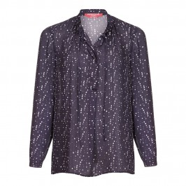 Marina Rinaldi spotty print navy Tunic - Plus Size Collection