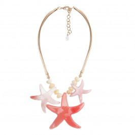 ADELE MARIE Coral starfish NECKLACE - Plus Size Collection