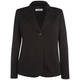 Persona black long sleeved front button fastening blazer jacket