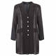 Beige Long black chiffon Jacket