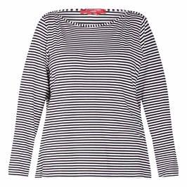 MARINA RINALDI STRETCH JERSEY LONG SLEEVE T-SHIRT NAVY - Plus Size Collection