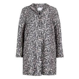 MARINA RINALDI JACQUARD JACKET NAVY - Plus Size Collection