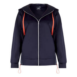 PERSONA BY MARINA RINALDI HOODY NAVY - Plus Size Collection