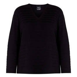 PERSONA BY MARINA RINALDI COTTON SWEATER BLACK - Plus Size Collection