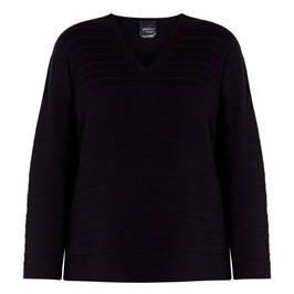 PERSONA BY MARINA RINALDI COTTON SWEATER BLACK - Plus Size Collection