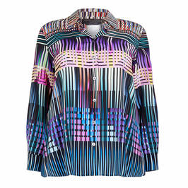 MARINA RINALDI PURE SILK SHIRT MULTICOLOUR  - Plus Size Collection