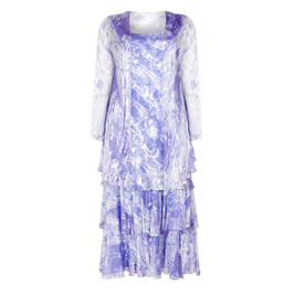 CAPRI GEORGETTE DRESS AND DUSTER COAT LILAC - Plus Size Collection