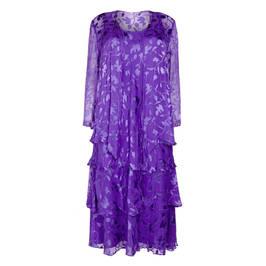 CAPRI GEORGETTE DRESS AND DUSTER COAT IRIS - Plus Size Collection